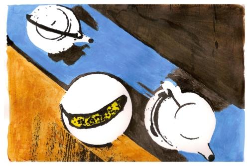 Banana and Tea Pot composition (after Isis Fernandes) | Atibaia | Jaime Scatena