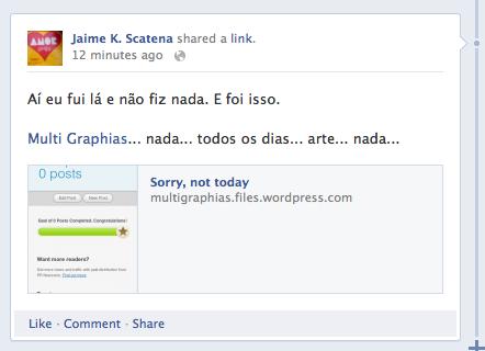 E foi isso | Facebook | Jaime Scatena