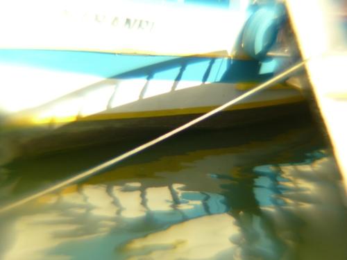 Espelho Azul e Branco | Paraty | Elaine Pessoa