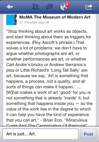 Art is just... Art | Facebookland | Jaime Scatena