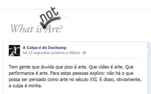 A culpa é do Duchamp | webland | Gabriela Canale