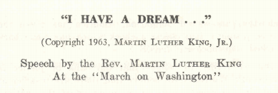 Martin had a Dream | Washington