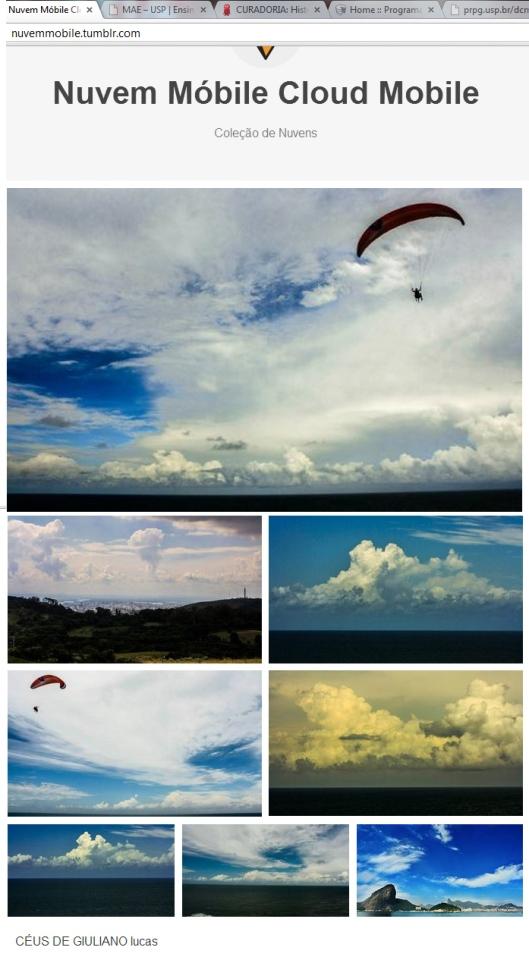nuvem mobile coletiva | webland celeste | Gabriela Canale sobre céus de Giuliano Lucas e Tumbler de Moema Freitas