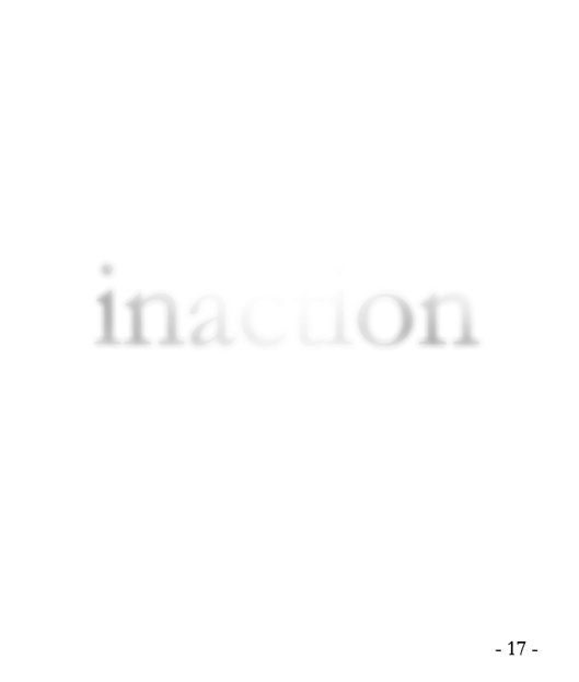 inaction | vitória | Gabriela Canale