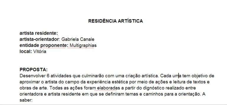 residencia artistica | Vitória | Gabriela Canale