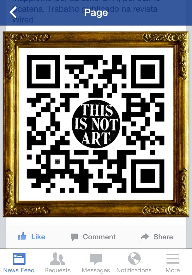 This is Not Art (QRt) | Facebookland | Jaime Scatena