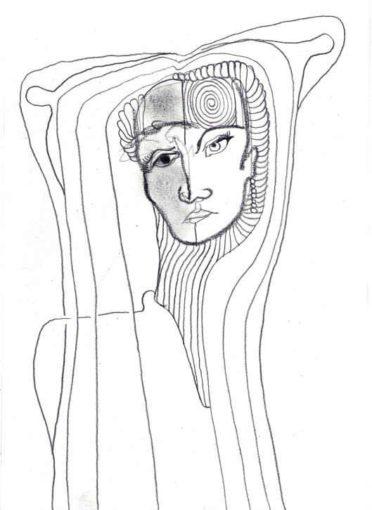 retrato de Anna Netrebko para Josafá Crisóstomo | drawing | ygor raduy