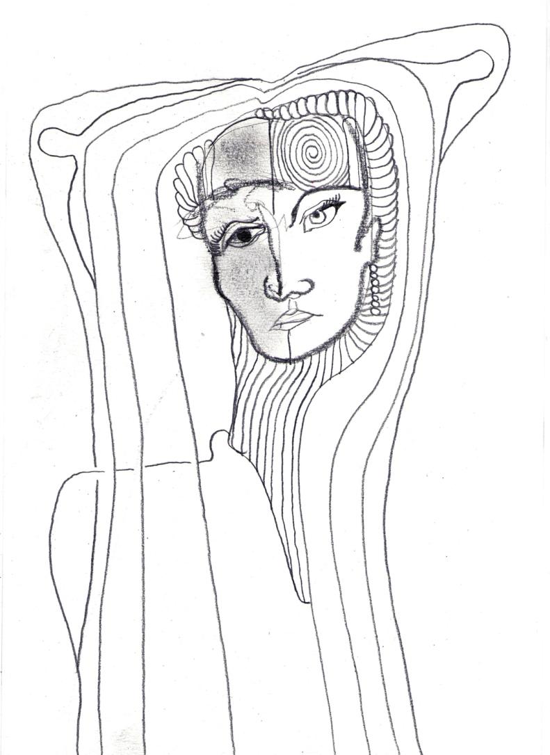 retrato de Anna Netrebko para Josafá Crisóstomo   drawing   ygor raduy